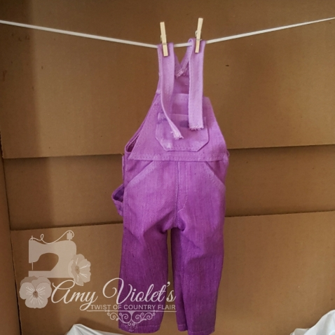 Doll Overall Dyes Ombre look 4-2018 Purple overalls WW